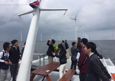Trip naar Windpark Westermeerwind met Koreaanse en Japanse delegatie