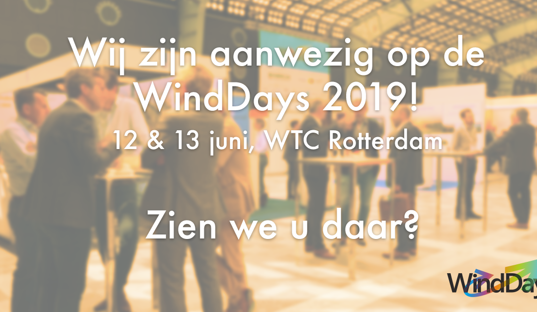 Visit us at the WindDays 2019 on 12 and 13 June